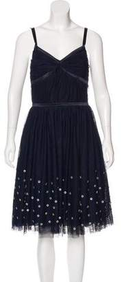 Lela Rose Tulle Embellished Dress