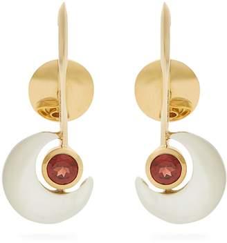 Kate Moss ARA VARTANIAN X garnet & gold earrings
