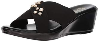 Italian Shoemakers Women's Pearls Wedge Sandal