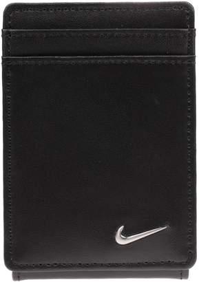 Nike Men's Leather Magnetic Front-Pocket Wallet