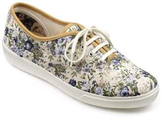 at Debenhams Hotter Dark Cream Canvas 'Mabel' Wide Fit Lace Up Trainers