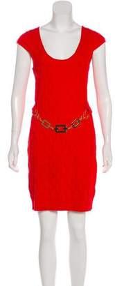 Milly Cap Sleeve Textured Dress