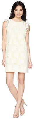 Tahari ASL Petite Ruffle Sleeve Novelty Sheath Dress Women's Dress