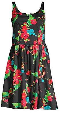 Nanette Lepore Women's Tropical Print Cotton Dress