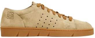 Loewe 20mm Perforated Suede Sneakers