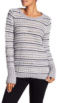 Chaser Knit Stripe Back Cutout Sweater