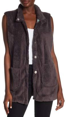 Johnny Was Vicney Lagoon Faux Fur Vest