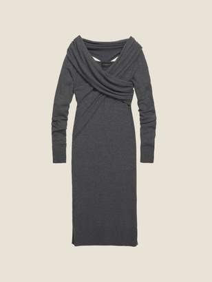DKNY Wool Jersey Wrap Front Dress