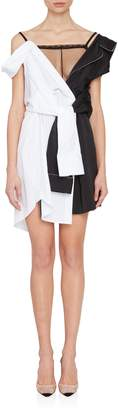 Alexander Wang Deconstructed Pajama Dress in Black and White
