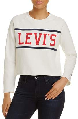 Levi's Raw-Edge Graphic Fleece Sweatshirt $59.50 thestylecure.com