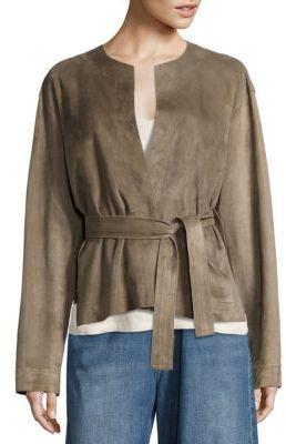 Vince Suede Belted Jacket $1,475 thestylecure.com