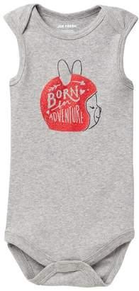 Joe Fresh Print Sleeveless Bodysuit (Baby Girls)