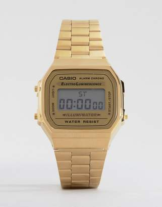 Casio A168WG-9EF Gold Plated Digital Watch $68 thestylecure.com