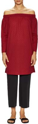 Lafayette 148 New York Women's Cotton Off The Shoulder Tunic