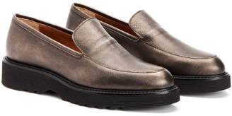 Aquatalia Kelsey Waterproof Metallic Leather Loafer