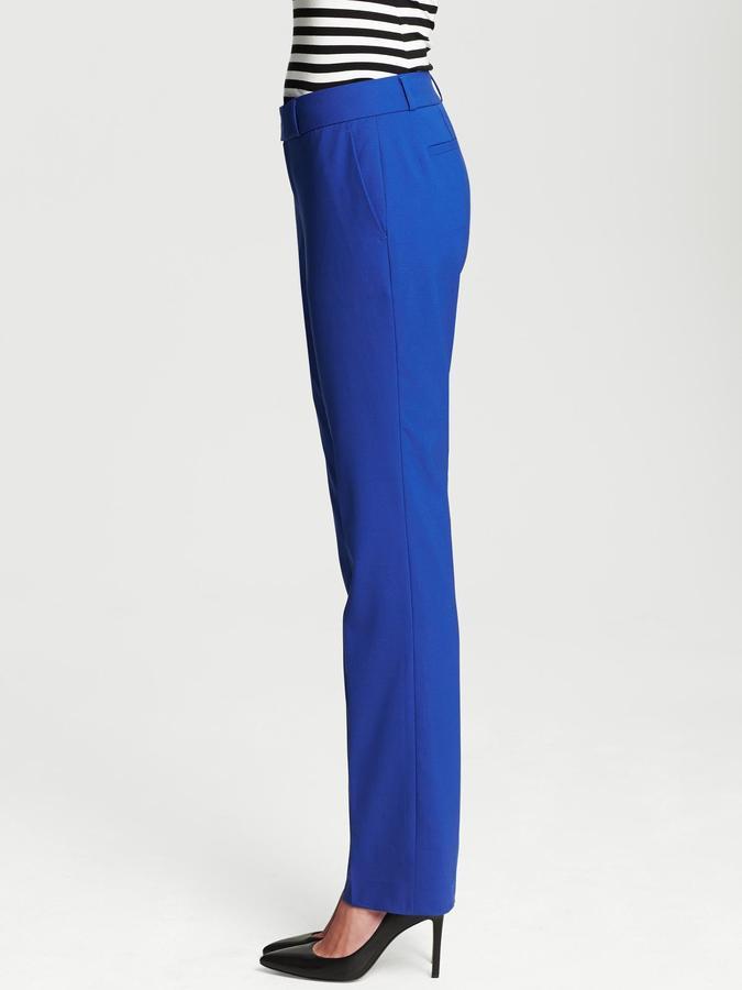 Banana Republic Martin-Fit Cobalt Lightweight Wool Straight Leg
