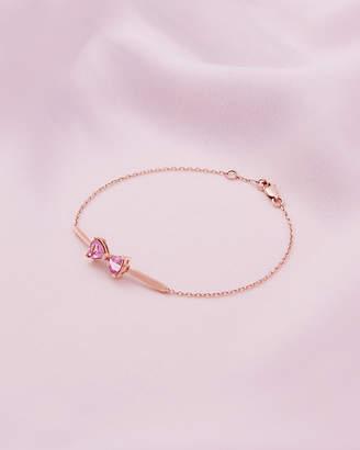 Ted Baker IMELIA 9ct rose gold and pink tourmaline bow bracelet