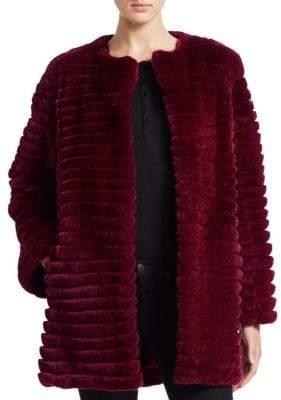 The Fur Salon Dyed Rabbit Jacket