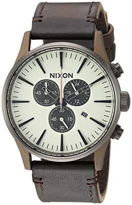 Nixon Men's 'Sentry Chrono Leather' Quartz Stainless Steel Casual Watch