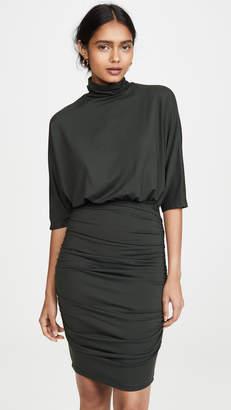 Susana Monaco Ruched Turtleneck Dolman Dress