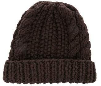 Maison Margiela Wool Cable Knit Beanie