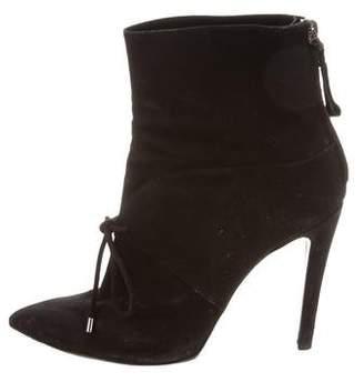 Giorgio Armani Suede Pointed-Toe Ankle Boots