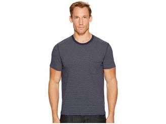 7 For All Mankind Short Sleeve Stripe Ringer Tee Men's T Shirt