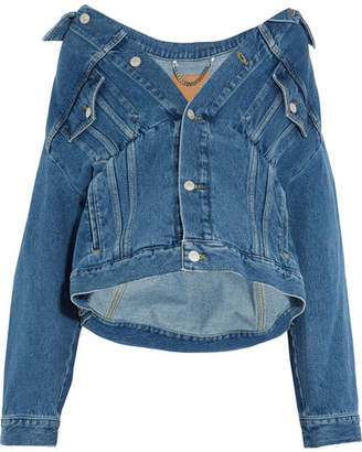 Balenciaga - Swing Oversized Denim Jacket - Blue