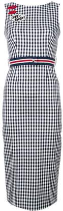 P.A.R.O.S.H. lip patch checked dress