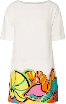 Boutique Moschino - Printed Crepe De Chine Mini Dress - White $475 thestylecure.com