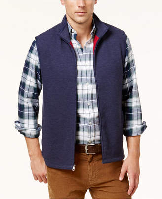 Club Room Men's Zip-Front Knit Vest, Only at Macy's $65 thestylecure.com
