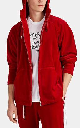 Mastermind Japan Men's Cotton-Blend Velour Hoodie - Red
