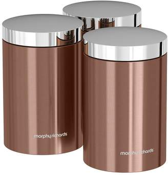 Morphy Richards Accents Set of 3 Storage Canisters – Copper