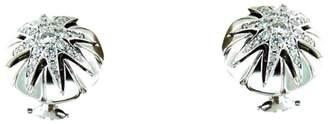 18K White Gold Diamonds Chunky Earring Stud Star Shape Earring