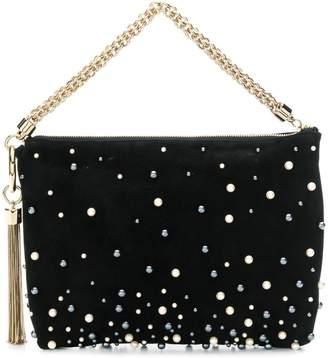 Jimmy Choo Callie pearl-embellished clutch