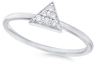 KC Designs 14K White Gold Diamond Triangle Stack Ring - 0.11 ctw