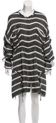 IRO Striped Long Sleeve Shirtdress