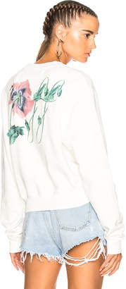 Off-White Off White Off Poppy Cropped Longsleeve Top