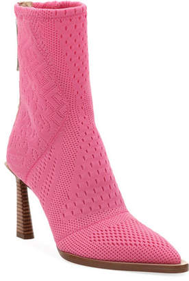 Fendi Stretch-Knit High Booties