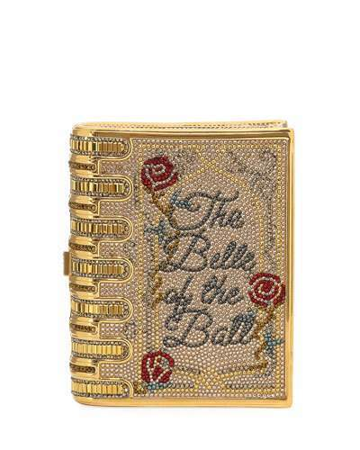 Judith Leiber Couture Disney's® Beauty and the Beast Book Clutch Bag, Gold