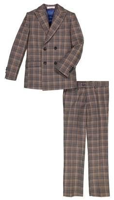 Isaac Mizrahi Double Breasted 3-Piece Plaid Suit (Toddler, Little Boys, & Big Boys)