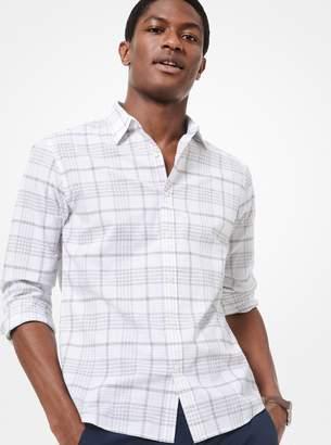Michael Kors Slim-Fit Check Cotton Shirt