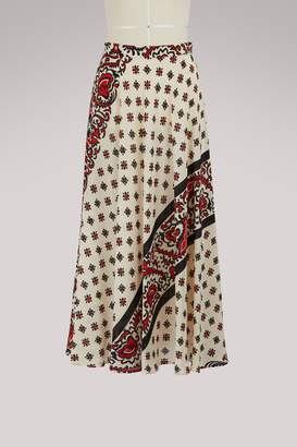 RED Valentino Bandana print long skirt