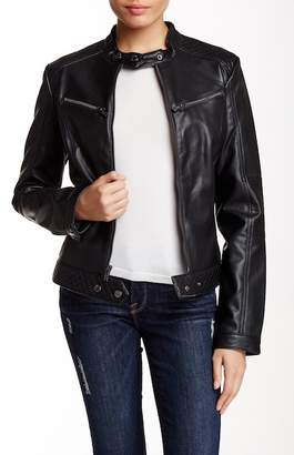 Rachel Rachel Roy Pleather Moto Jacket $150 thestylecure.com