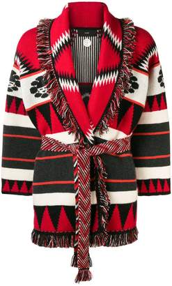 Alanui belted embroidered cardigan