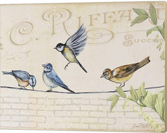 Metaverse Birds Gathered On Wire - Paris Wall - B By Jean Plout Canvas Art
