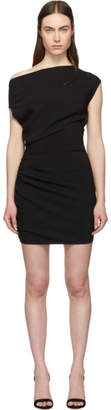 Versace Black Ruched Sleeveless Dress