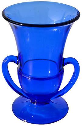 One Kings Lane Vintage Midcentury Cobalt Blue Glass Vase - The Moroccan Room