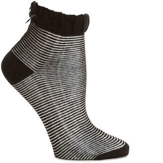 Mix No. 6 Stripe Bow Ankle Socks - Women's