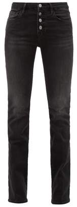 Frame Le Mini Boot Bootcut Jeans - Womens - Dark Grey